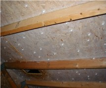 Ice layer in the attic