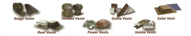 Different styles of exhaust vents.