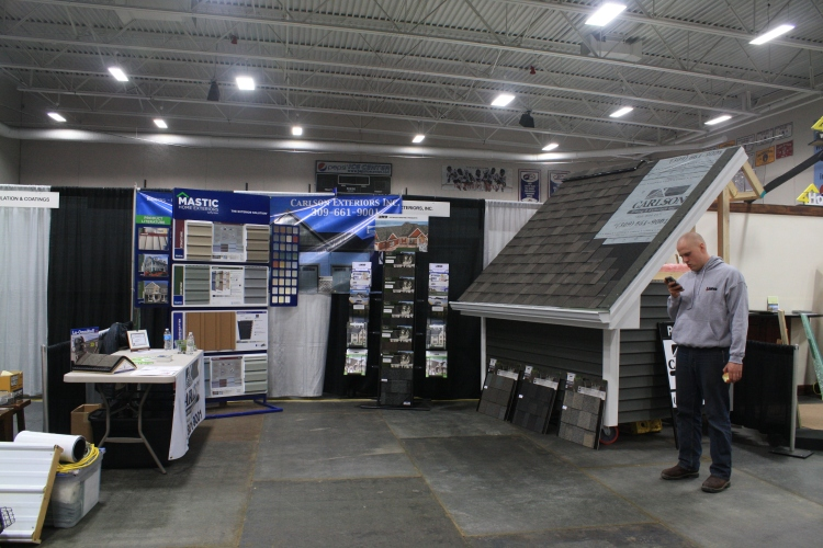 Our booth at the Bloomington Normal Area Home Show