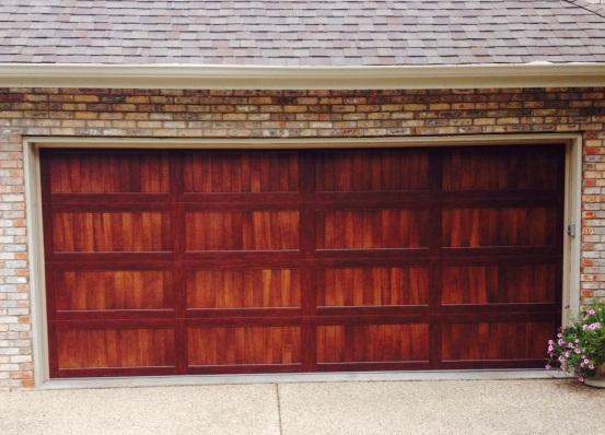 Steel doors that look like wood