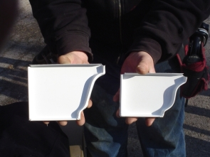 "6"" gutter profile (left) 5""gutter profile (right)"