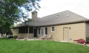 Ranch style home in real cedar siding