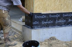 EnviroDri flashing to foundation