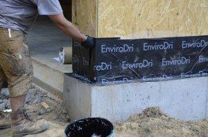 EnviroDri flashing to foundation