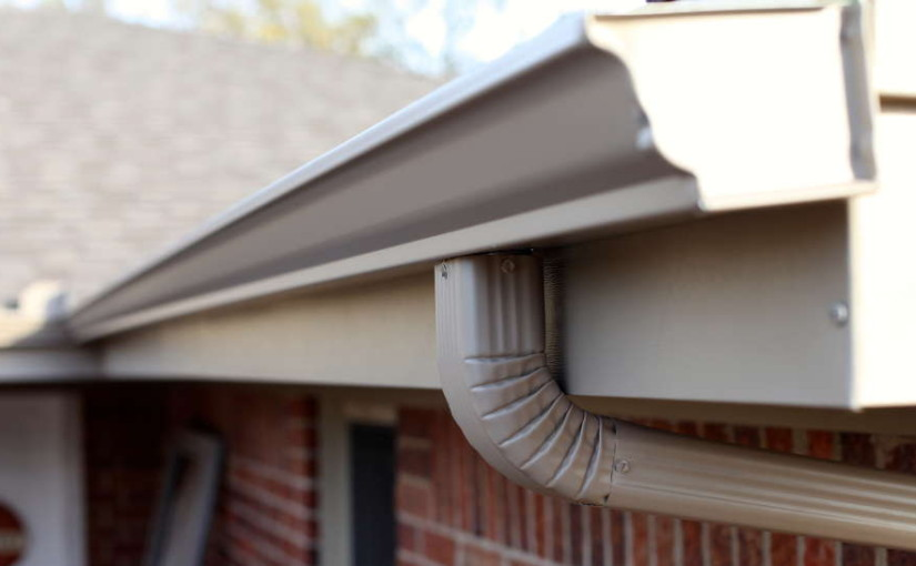 tan seamless gutter