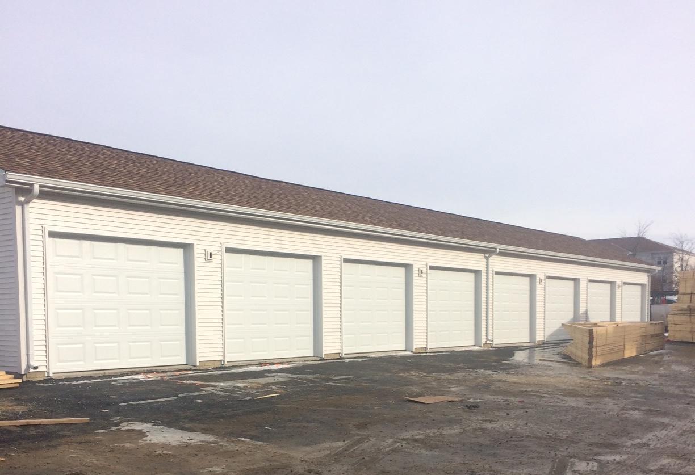 White Overhead Garage Doors Raised Short Panel With No