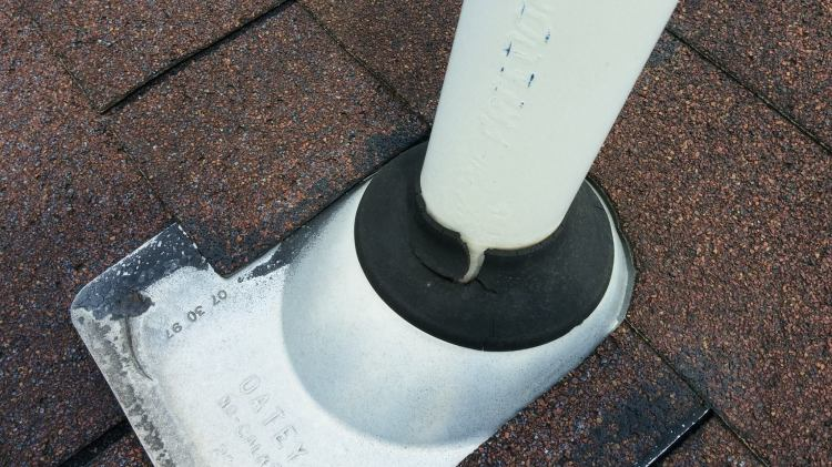 cracked pipe boot flashing