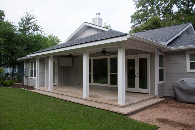long covered porch
