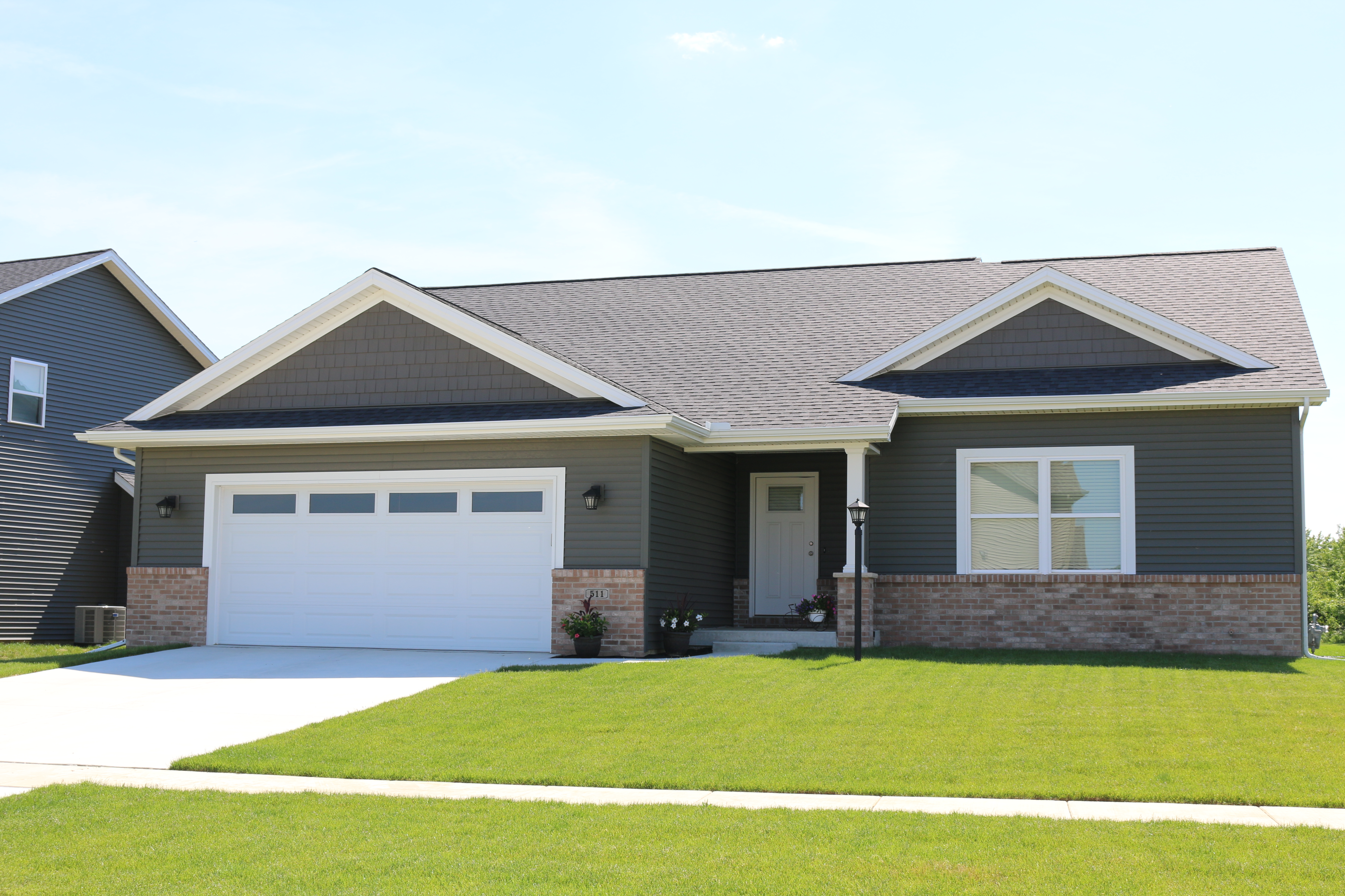 Misty Shadow Dark Grey Siding And Shakes Black Roof With