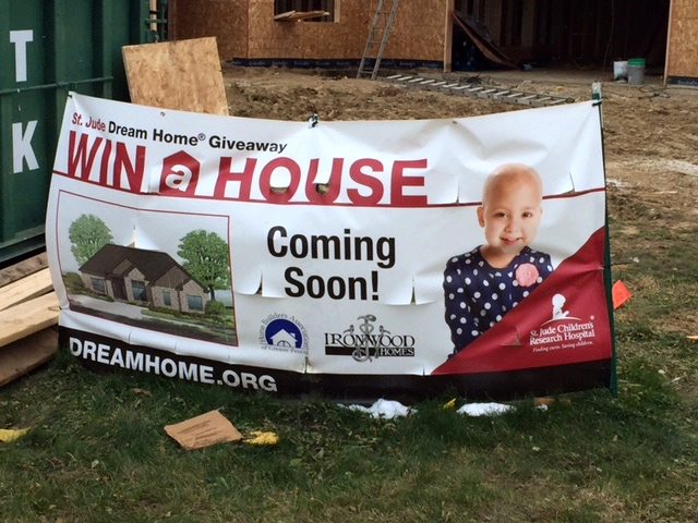 Banner od Peoria St Jude Home Give Away