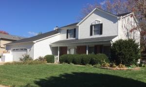 plain white 2 story house