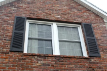 New window in brick gable