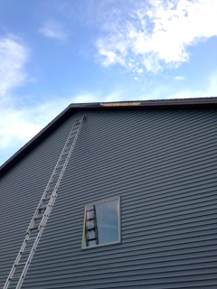 gable fascia repair from blown off in storm in bloomington il
