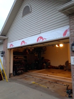 rotten garage door header repair in bloomington il