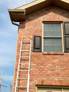 storm and wind broke shutter panel needs repair in bloomington