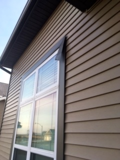 Window aluminum casing was damaged during a storm