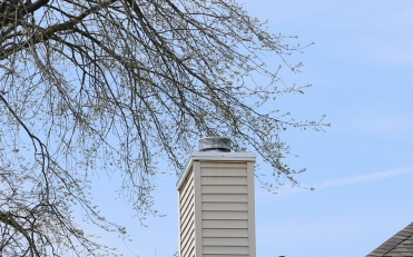 chimney top with brand new stainless steel