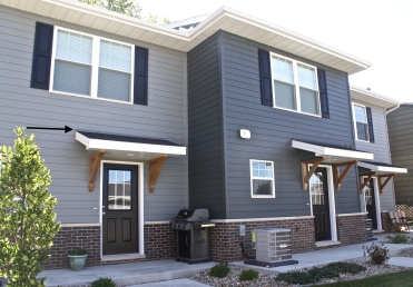 The flashing detail between James Hardie lap siding and a roof line is less noticeable than with James Hardie Shake; however it may bother some homeowners