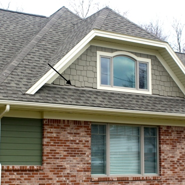 The gap between James Hardie shake is more noticeable than with lap siding.