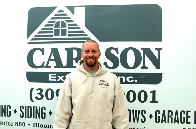 Employee of the Month Mitchell HArston Carlson Exteriors Garage Door Foreman