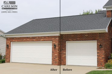 Before and after garage molding