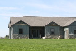 Gable accents can be custom built out of cedar. They can be offset or be flush with your siding
