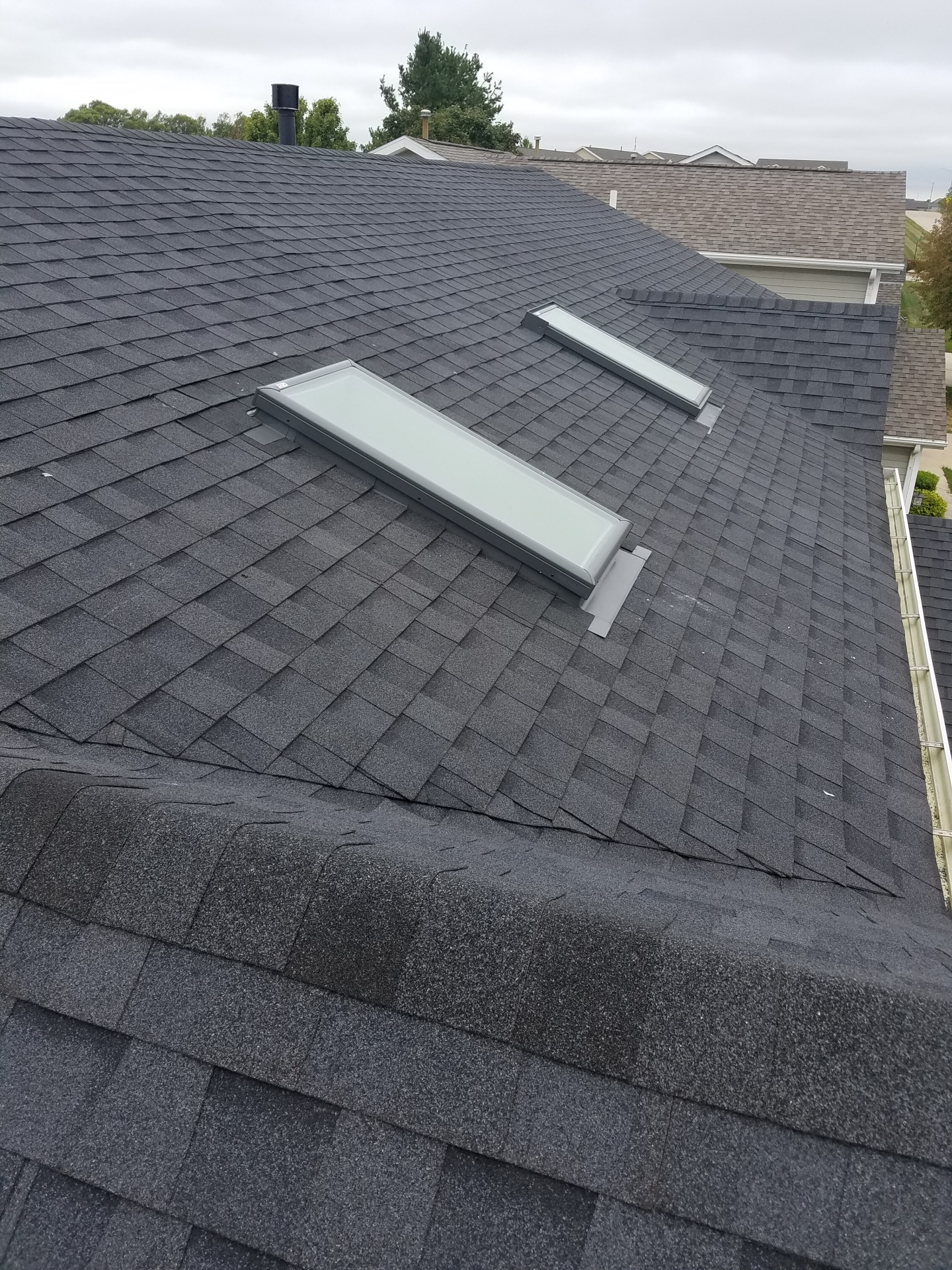 Two new Velux Skylights and new flashing installed in Bloomington IL