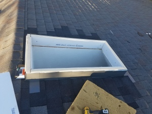 Re-built curb mount for new skylight