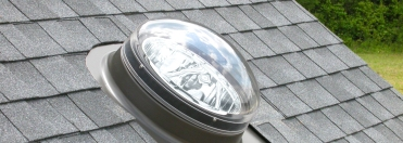The Velux sun tunnel look from on your roof
