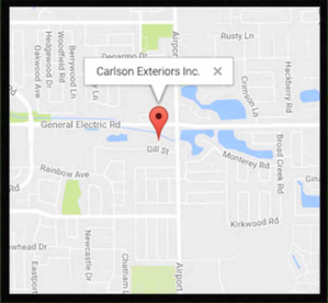 Carlson Exteriors mapped location