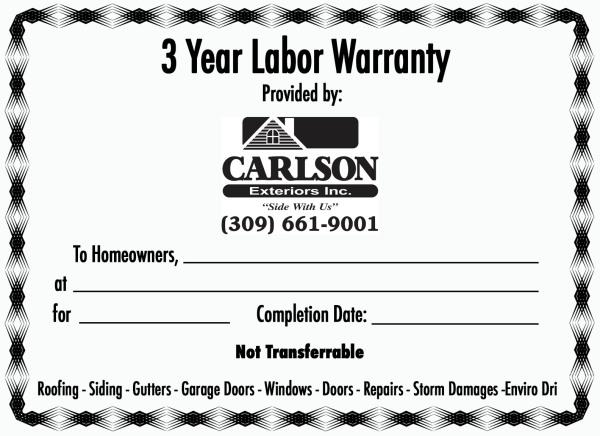 Carlson Warranty