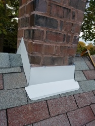 New Chimney flashing on a home in Bloomington IL
