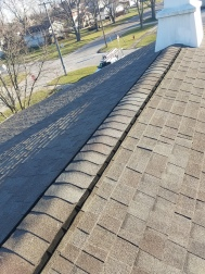 New ridge and ridge vent was installed on a house that had damaged ridge vent