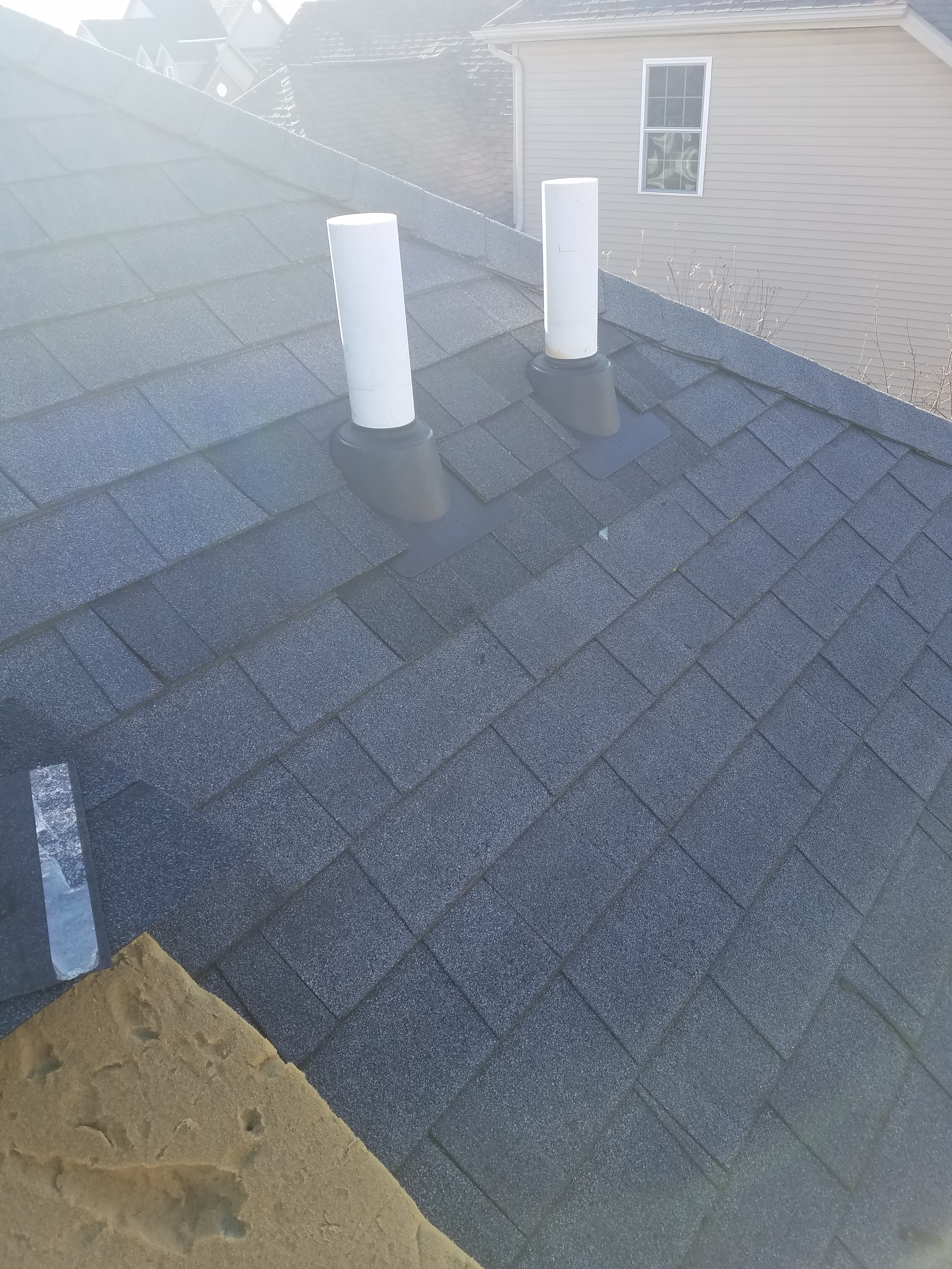 a roof leak was caused by cracked pipe boots new pipe boots were added and - Roof Boots