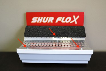 Shur FloX only attaches to the gutter - not the roof.