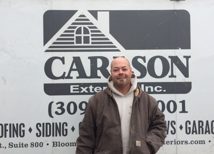 Carlson Exteriors Employee of the Month Joe Schenk March 2018