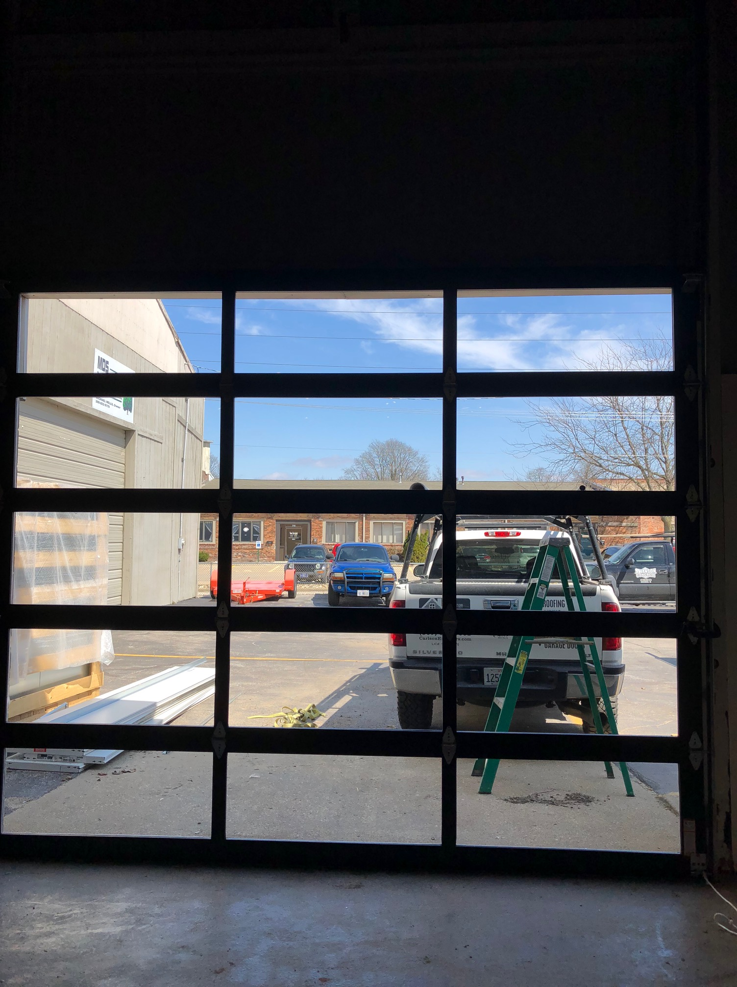 All Glass Garage Door Replacement In Bloomington Il Carlson