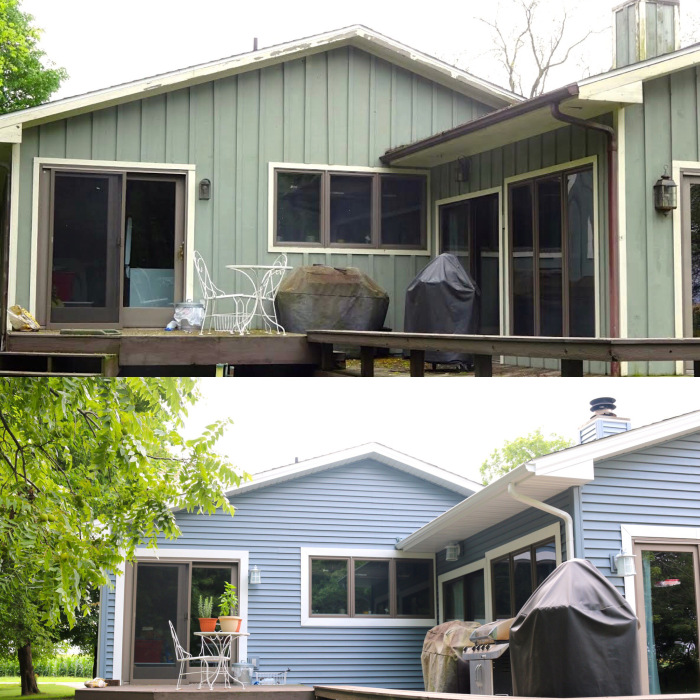 Before And After Picture Of Bloomington Il Home With New Mastic English Wedgewood And White
