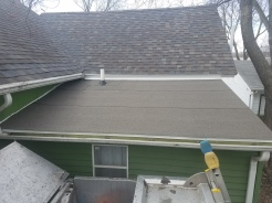 Low Slope roof replacement with Flintlastic in Bloomington, IL