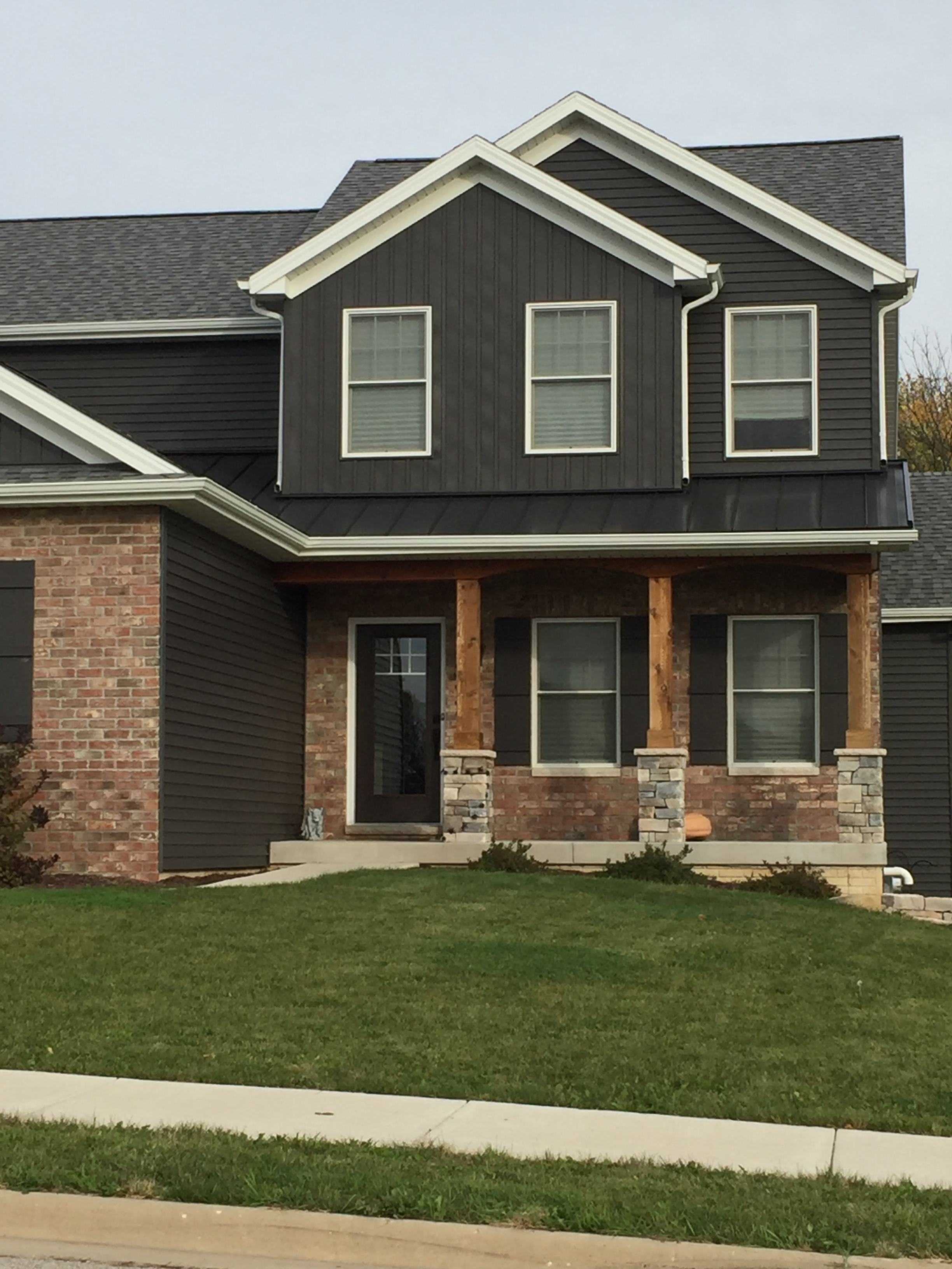 Metal Accent Porch Roof In Peoria, Il  Carlson Exteriors Inc-7769