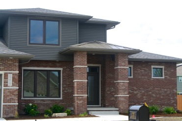 Brown Metal Accent Porch roof in Normal, IL