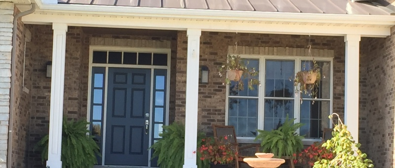 Brown Metal Accent Porch roof in Peoria, IL
