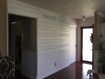 White ship lap install in Danvers IL