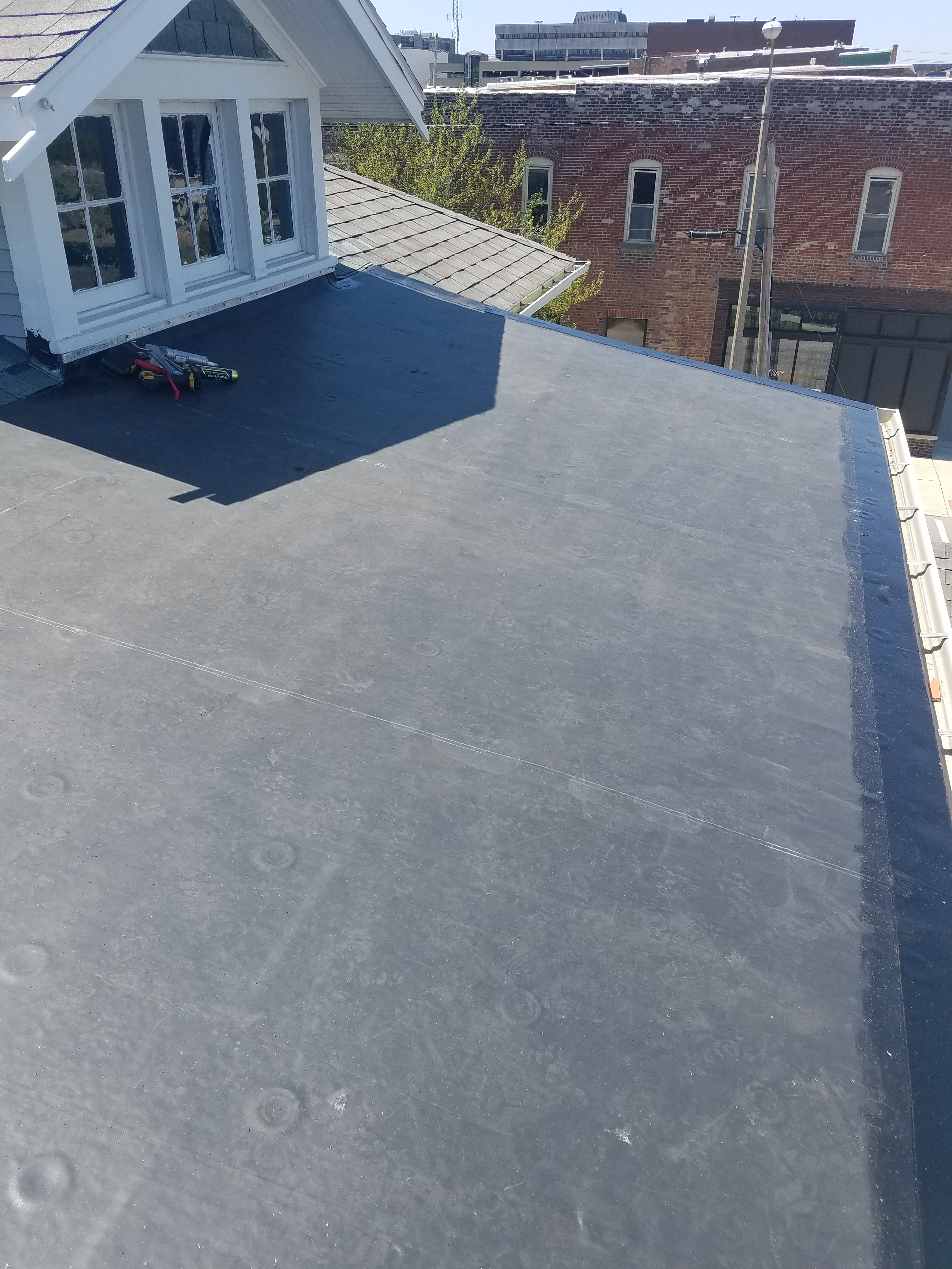 Install New Rubber Roof In Bloomington Il Carlson Exteriors Inc