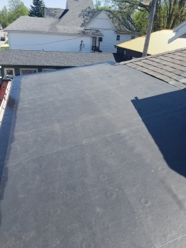 New rubber roof install on low slope roof