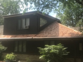 Wood shake roof install bloomingotn il