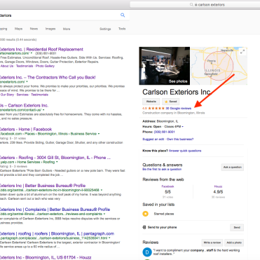 Find Google reviews by clicking where the red arrow is pointing to